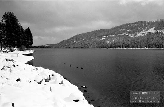 Snow and Lake, Donner Lake