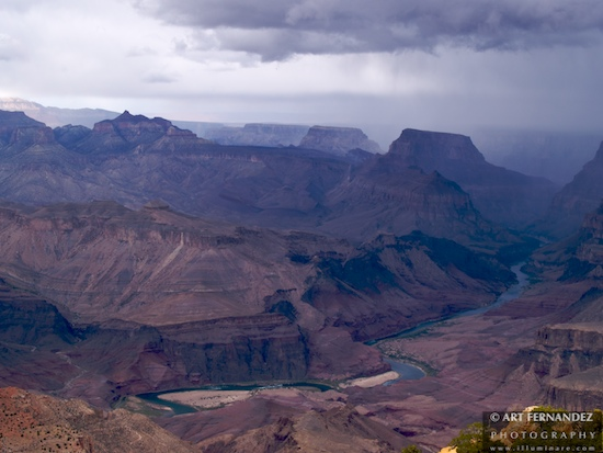 Rain Sweeping Over the Canyon, Grand Canyon National Park