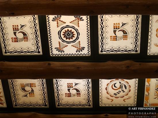 Hopi Artwork Ceiling of the Desert Inn, Petrified Forrest National Park