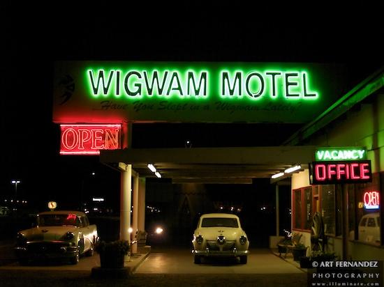 Wigwam Motel at Night - Holbrook, AZ