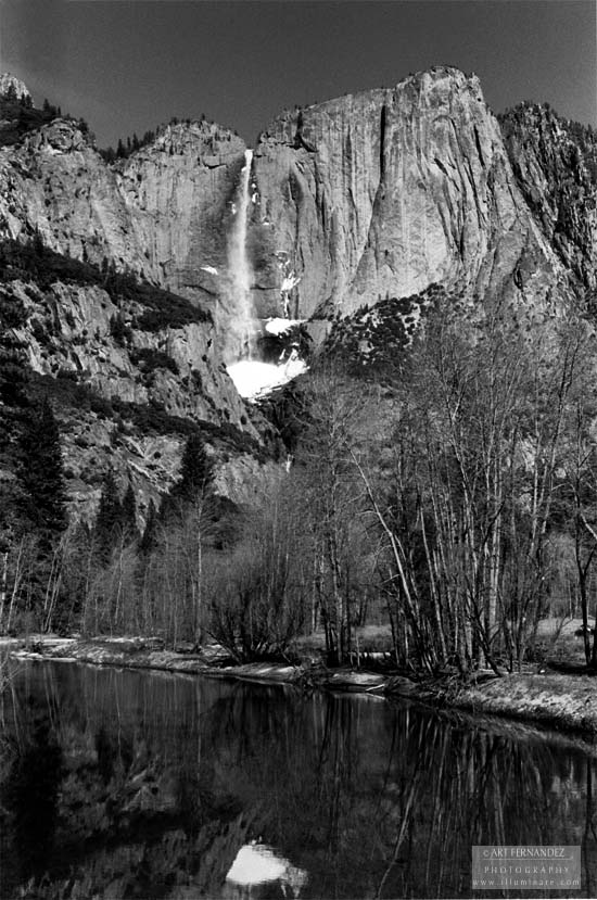 Upper Yosemite Falls from Merced River, 2006