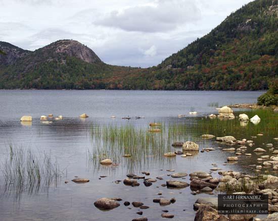 Late Fall On Jordan Pond, Acadia National Park, 2002