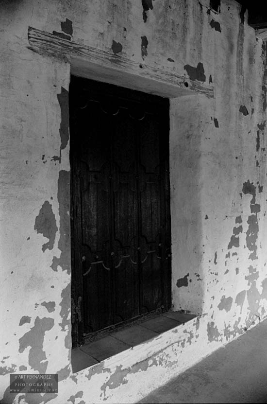 Weathered Adobe & Doorwell, Carmel Mission, May 2006